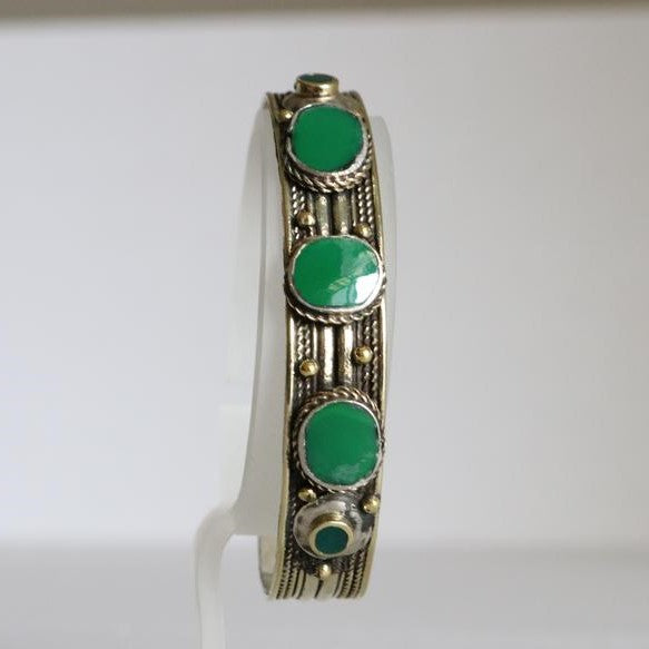 Antique Afghani Adjustable Cuff Jade