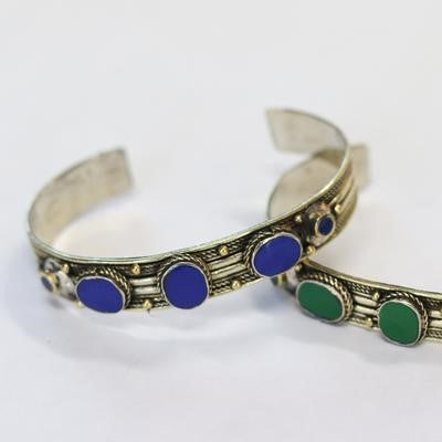 Antique Afghani Adjustable Cuff Blue Lapis