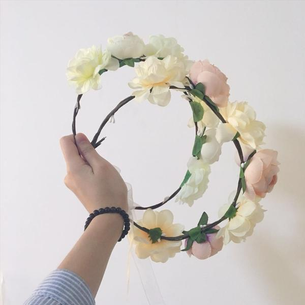 Boho Flower Crown Dreamy White