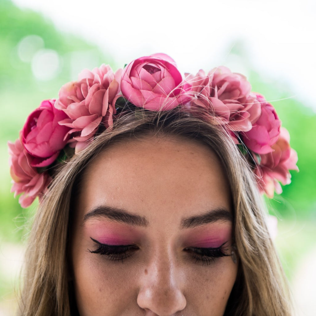Boho Flower Crown Blush Pink