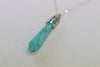 Lunar Goddess Moon Point Turquoise Necklace