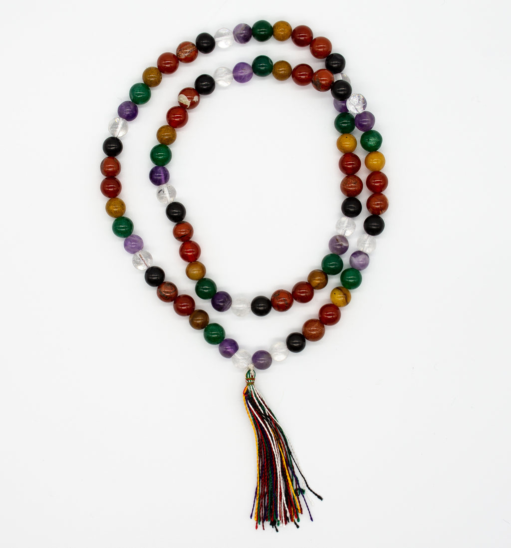 7 Chakra Mala Necklace with Tassel