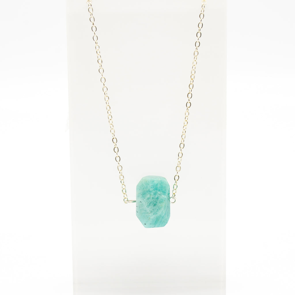 Raw Gemstone Amazonite Necklace