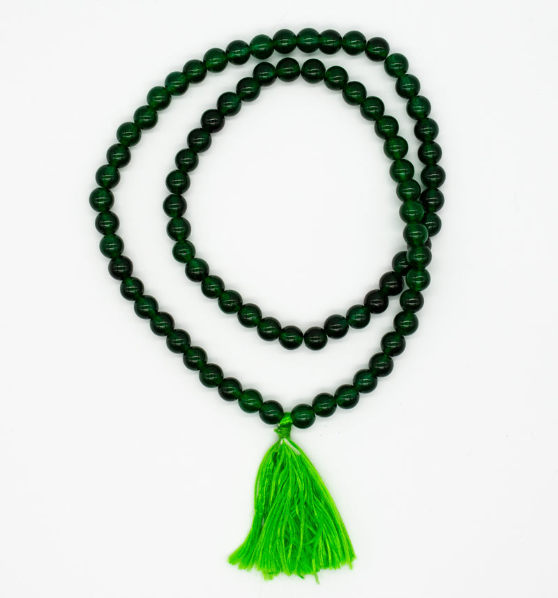 Jade Mala Necklace with Tassel