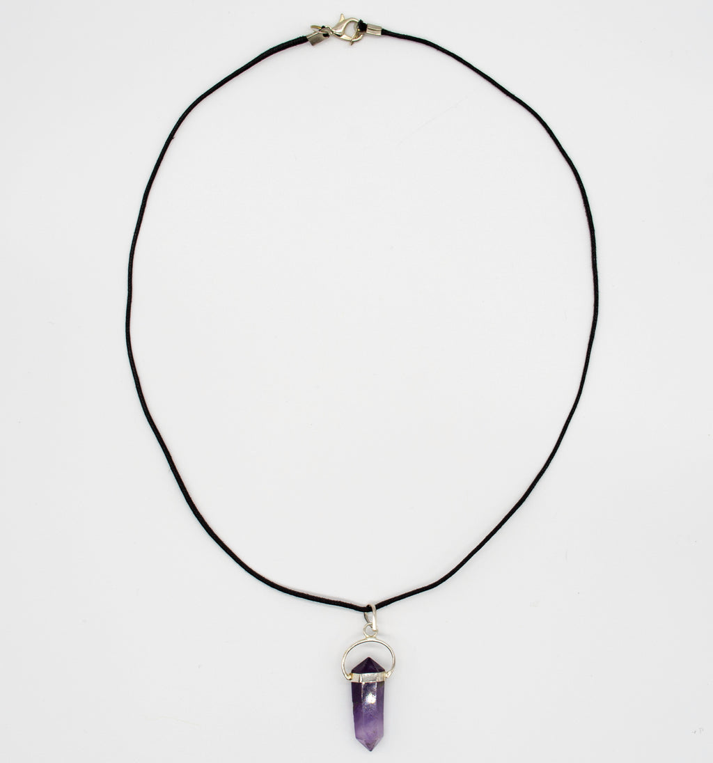 Obelisk Gemstone Amethyst Necklace