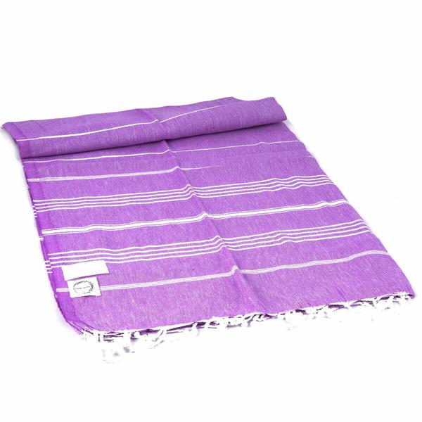 Turkish Peshtemal Lightweight Amethyst Evil Eye Towel
