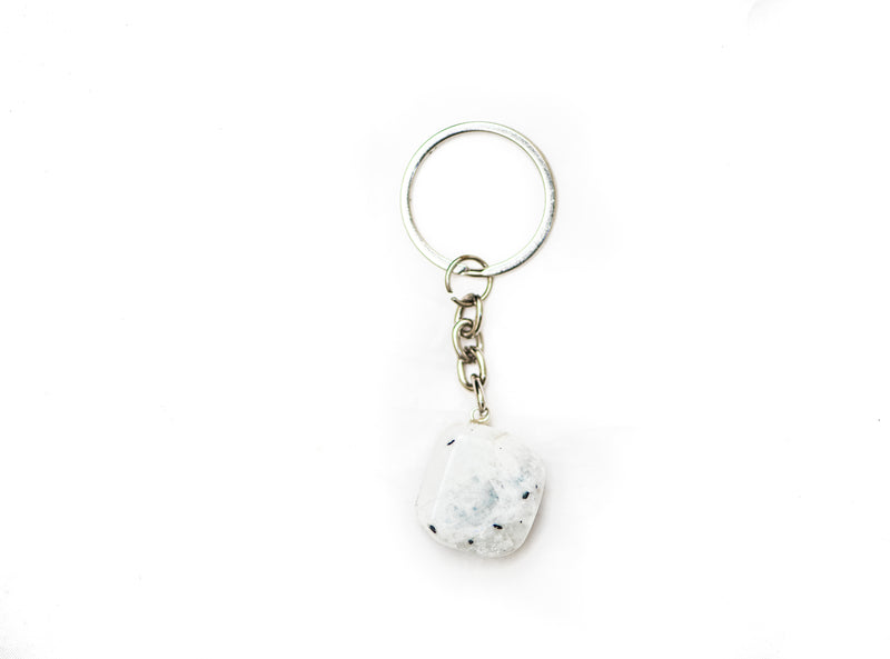 Gemstone Cream Moonstone Keyring
