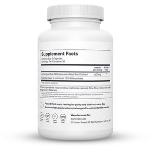 Illuminate Labs Ashwagandha Extract Supplement Facts