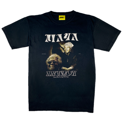 MAYA ANGELOU T-SHIRT (VINTAGE BLACK)