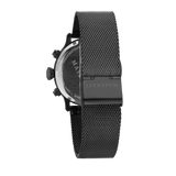 EPOCA 42mm Black Steel Mesh Watch
