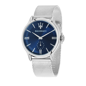 EPOCA 42mm Blue Dial Steel Mesh Watch