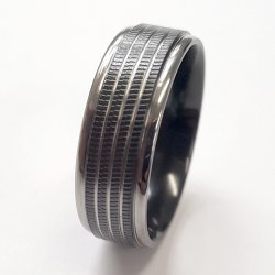 2 Tone Zirconium Patterned Band