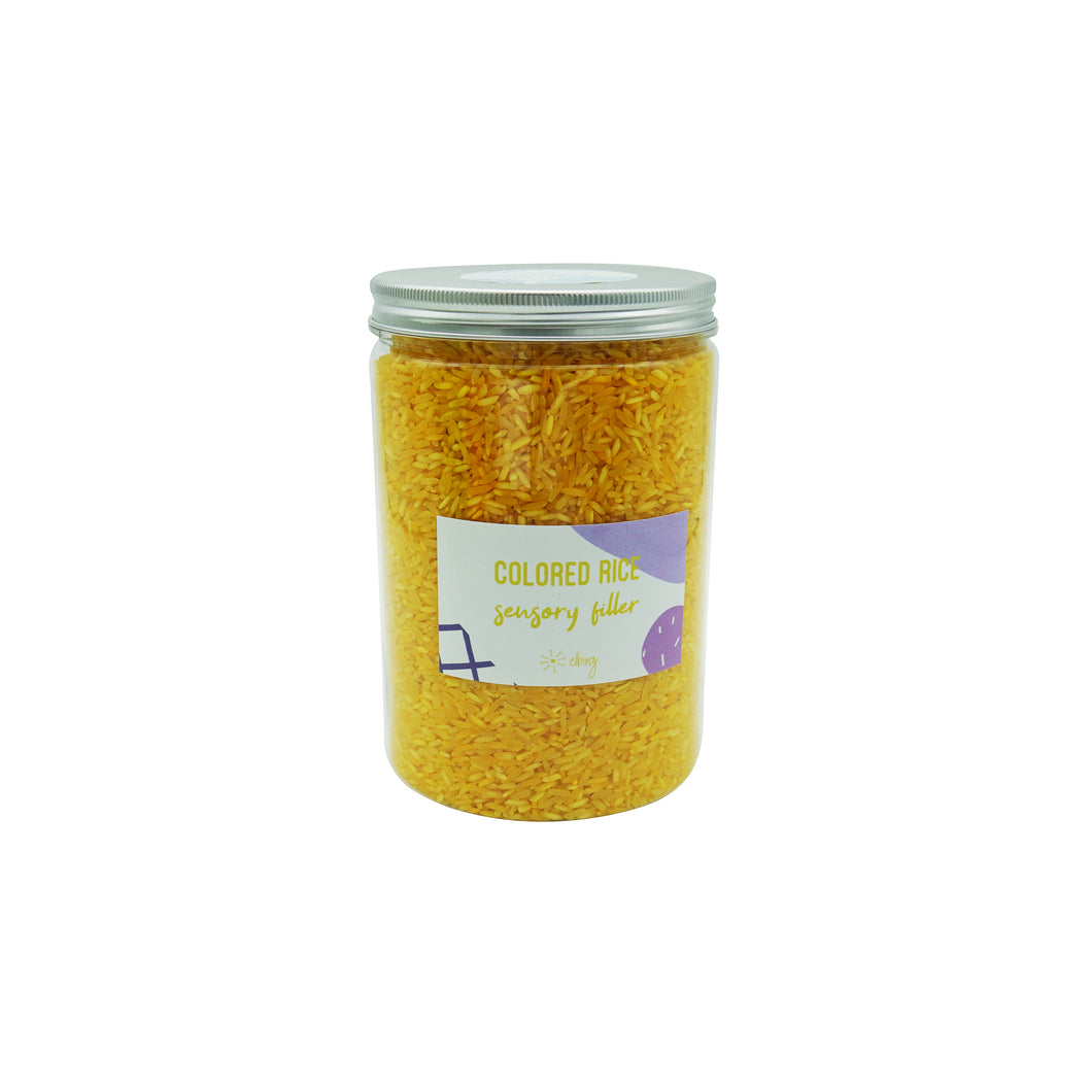 Colored Sensory Rice - Yellow - Elbirg