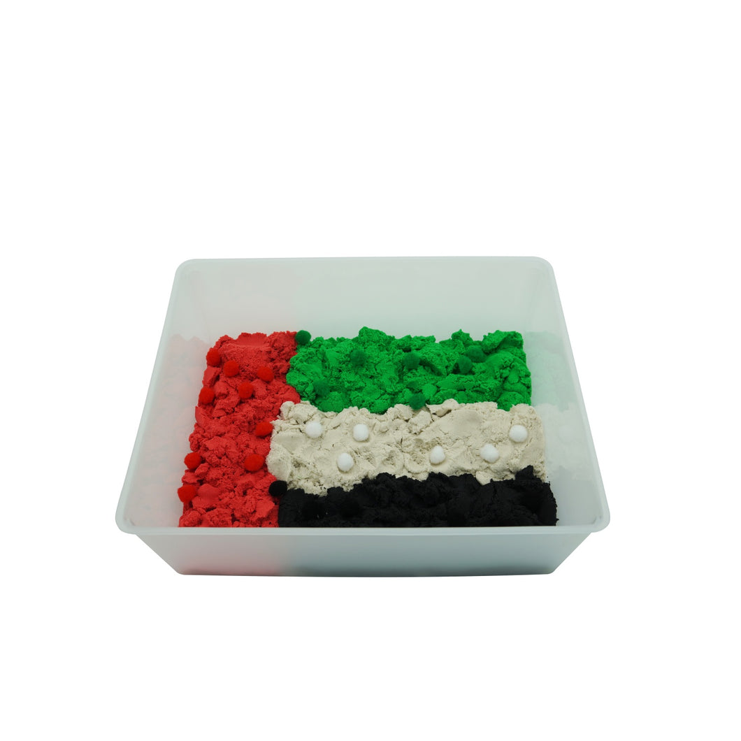 Emirati Flag Colored Motion Sand - 4 UAE Colors, 4kg - Elbirg