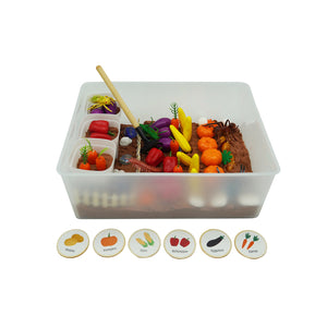 Vegetable Garden - Sensory Bin - Elbirg