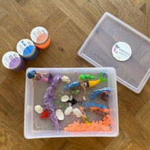 Load image into Gallery viewer, Mermaid Castle - Sensory Bin with Aqua sand - Elbirg