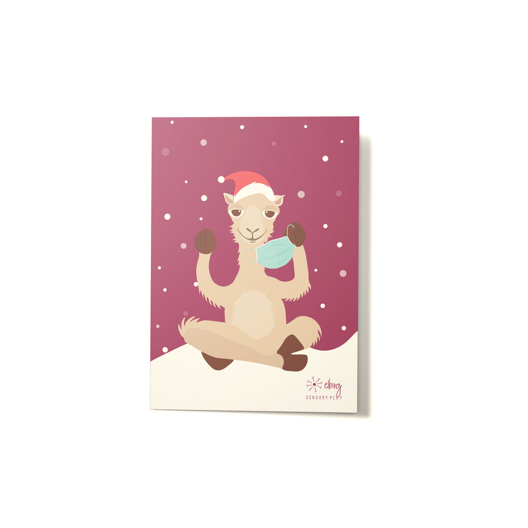 Christmas Camel Card - Elbirg