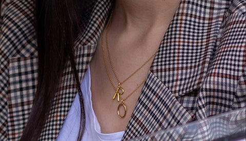 Ethical Jewelry Initial Silver Necklace Wonther