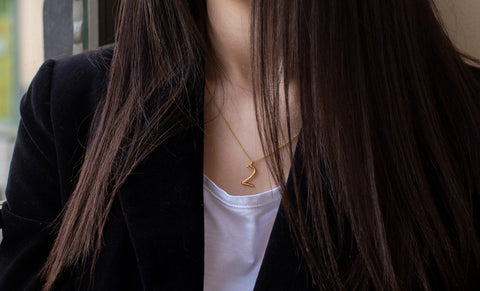 Ethical Jewelry Number Two Gold Necklace Wonther