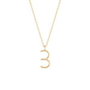 Load image into Gallery viewer, Number 3 Necklace