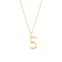 Load image into Gallery viewer, Number 5 Necklace