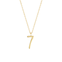 Load image into Gallery viewer, Number 7 Necklace