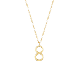 Load image into Gallery viewer, Number 8 Necklace