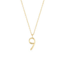 Load image into Gallery viewer, Number 9 Necklace