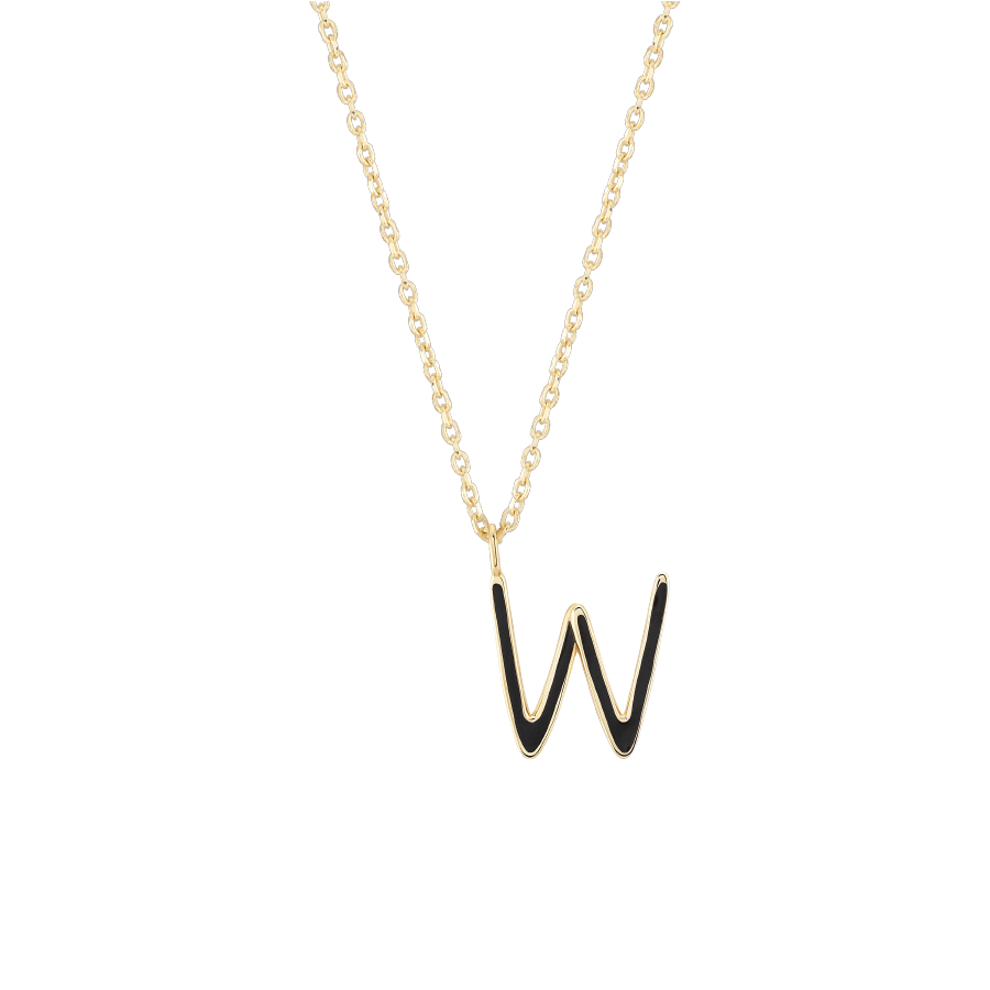 Initial W Necklace