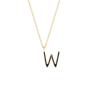 Load image into Gallery viewer, Initial W Necklace