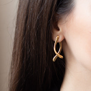Load image into Gallery viewer, Double Boomerang Earrings Brincos Wonther