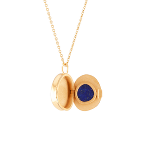 Load image into Gallery viewer, Good Vibes Locket Lapis Lazuli