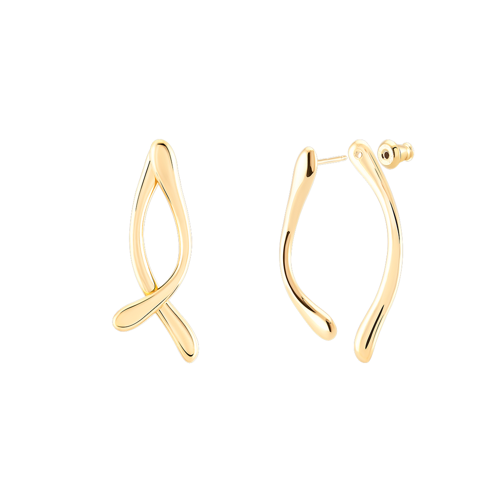 Double Boomerang Earrings Brincos Wonther