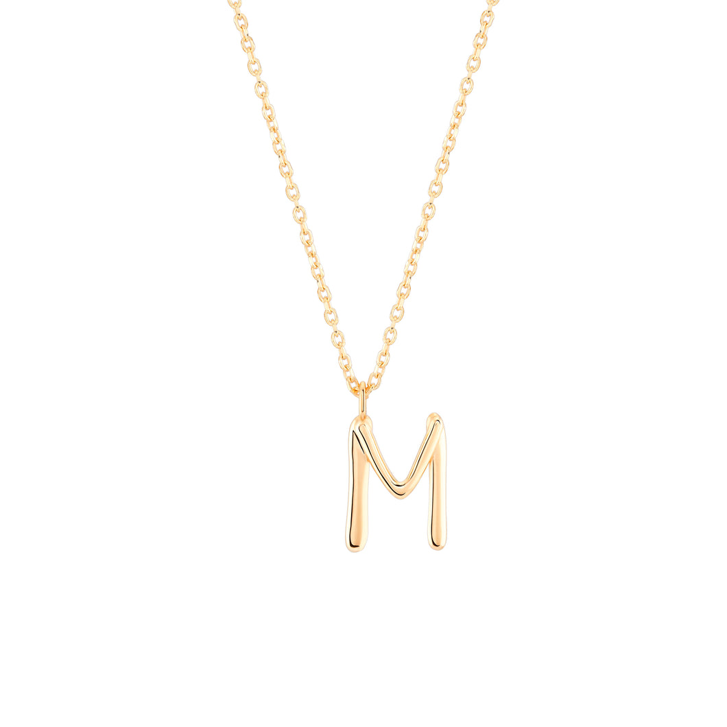 Initial M Necklace