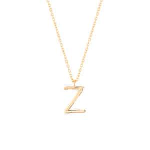 Load image into Gallery viewer, Initial Z Necklace