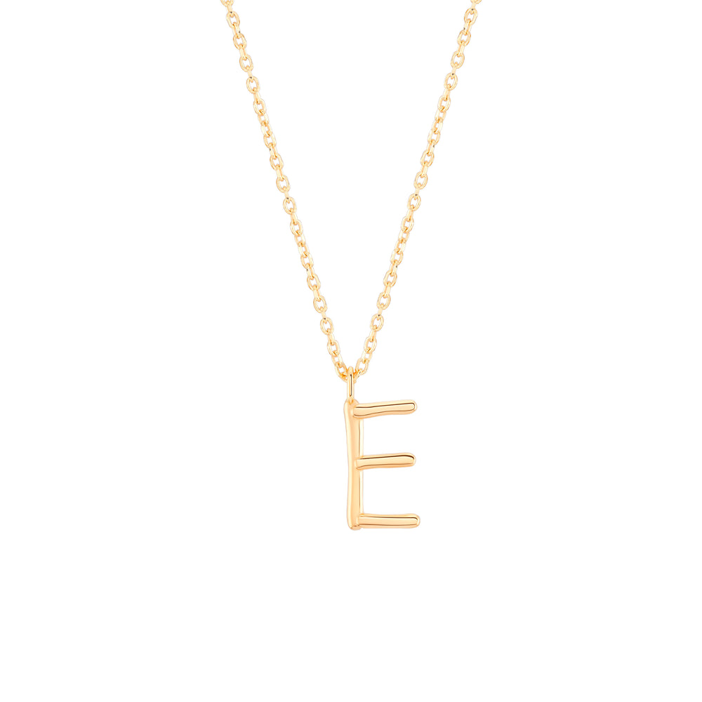 Load image into Gallery viewer, Initial E Necklace