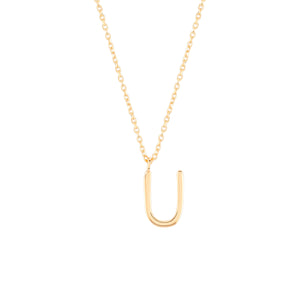 Load image into Gallery viewer, Initial U Necklace