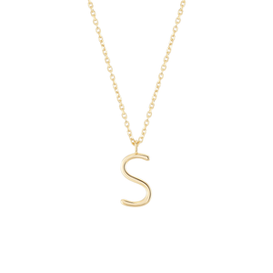 Load image into Gallery viewer, Initial S Necklace