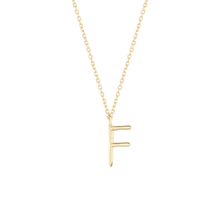 Load image into Gallery viewer, Initial F Necklace