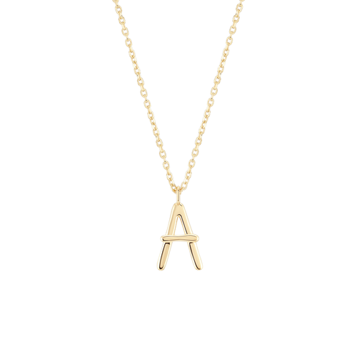 Initial A Necklace