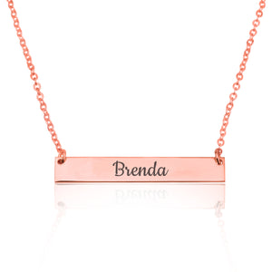 Customize Bar Necklace