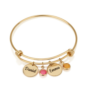 Personalized Gift For Mom Charm Bracelet