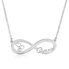 Custom Infinity Name Necklace With Hearts