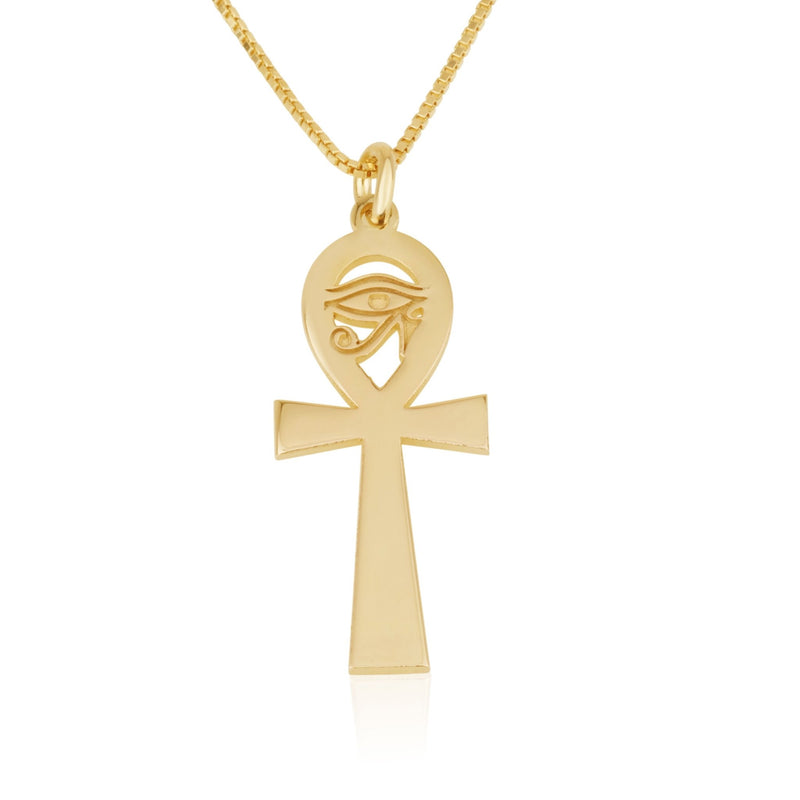 Ankh Necklace With Eye Of Horus - Beleco Jewelry