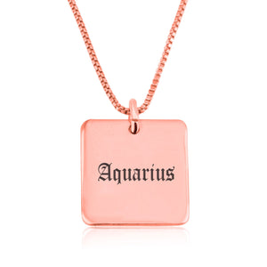 Aquarius Charm Necklace - Beleco Jewelry