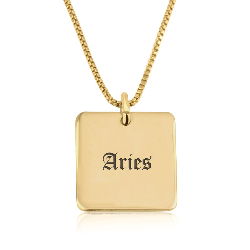 Aries Charm Necklace - Beleco Jewelry