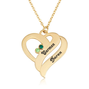Birthstones Heart Necklace - Beleco Jewelry