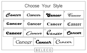 Cancer Engraved Cuff Bracelet - Beleco Jewelry
