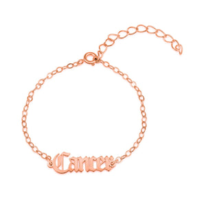 Cancer Script Bracelet - Beleco Jewelry
