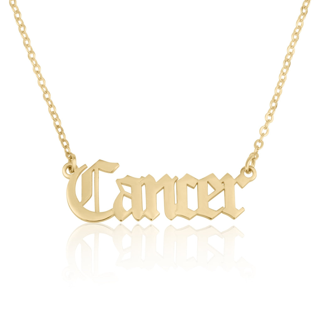 Cancer Script Necklace - Beleco Jewelry
